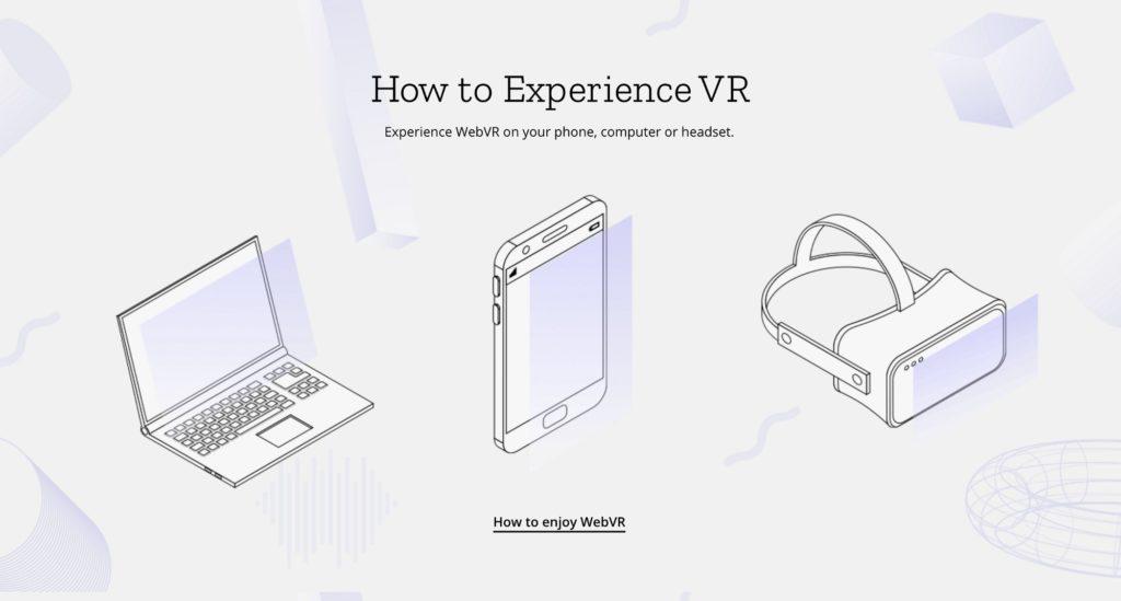 how to enjoy webvr image laptop mobile headset