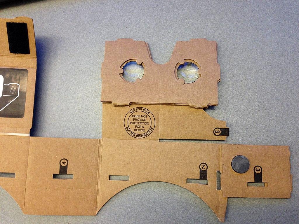 google cardboard fully unfolded